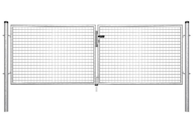 portail pivotant grillag galvanis cl ture et grillage. Black Bedroom Furniture Sets. Home Design Ideas