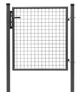 Portillon standard gris a cl ture et grillage for Portillon grillage pas cher