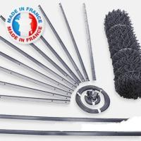 Kit Grillage Simple Torsion Gris A  Maille 50mm Ø2.7mm Ht.1m00 Lg.25ml