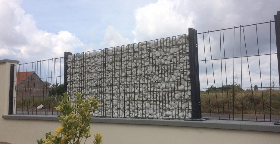 kit cl ture gabion mural design et moderne. Black Bedroom Furniture Sets. Home Design Ideas