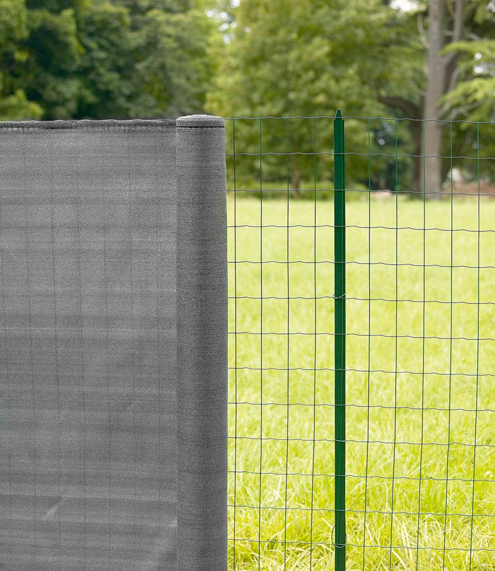 Brise Vue Hauteur 1M70 destockage - filet brise-vue en toile 200 g/m² - lg. 25 m gris acier