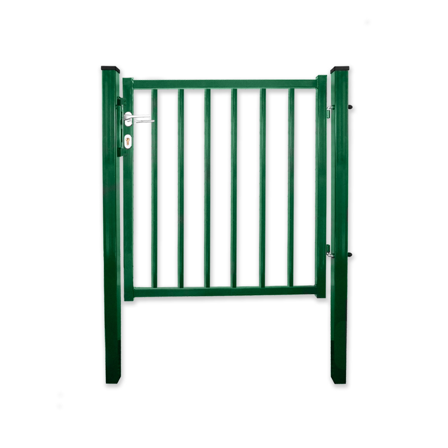 - Destockage - Portillon standard  barreaudé vert largeur 1m50