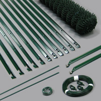 Kit Grillage Simple Torsion Vert  Maille 50mm Ø2,4mm Ht.1m00 Lg.25ml