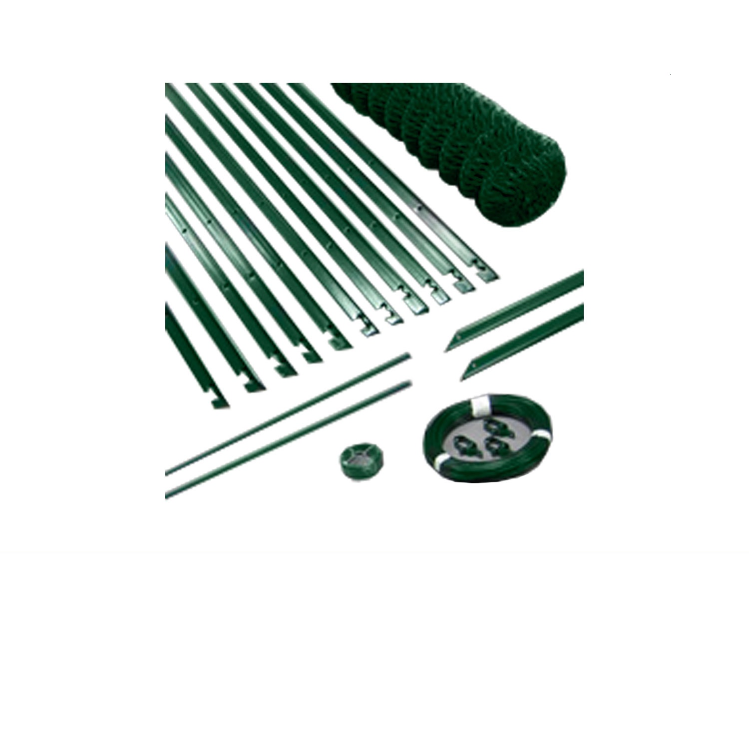 Kit grillage simple torsion 50 x 50 mm - Ø 2,4 / 2,7 / 3,1 mm - Lg. 25 m Vert
