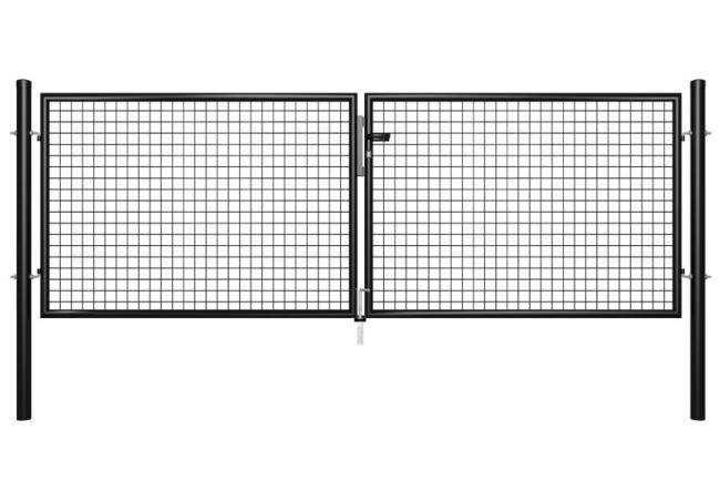 portail grillag noir cl ture et grillage. Black Bedroom Furniture Sets. Home Design Ideas